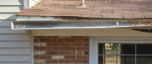damaged rain gutter